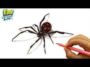 Dibujar Una Araña 3D Para Halloween Fácil Paso a Paso