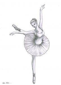 Dibujar Una Bailarina De Ballet Fácil Paso a Paso