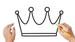Cómo Dibujar Una Corona Fácil Paso a Paso