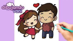 Dibujar Una Pareja Enamorada Para San Valentín Fácil Paso a Paso