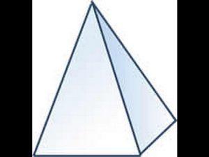Cómo Dibujar Una Pirámide Cuadrangular Fácil Paso a Paso
