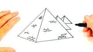 Cómo Dibuja Una Pirámide Fácil Paso a Paso