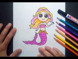 Dibuja Una Sirena Fácil Paso a Paso