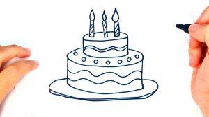 Dibuja Una Tarta De Cumpleaños Fácil Paso a Paso
