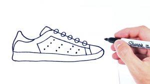 Cómo Dibuja Zapatillas Paso a Paso Fácil