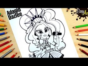 Dibuja A Adagio Dazzle De My Little Pony Fácil Paso a Paso