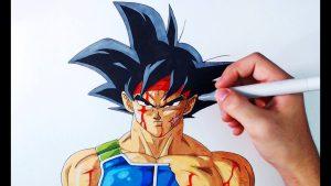 Cómo Dibuja A Bardock De Dragon Ball Z Paso a Paso Fácil