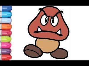 Dibujar A Goomba De Nintendo Fácil Paso a Paso