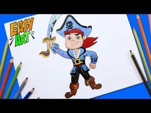 Cómo Dibujar A Jake De Disney Junior Paso a Paso Fácil
