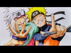 Dibuja A Naruto Con Jiraiya Saludando Paso a Paso Fácil