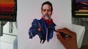 Dibuja A Negan De The Walking Dead Realista Paso a Paso Fácil
