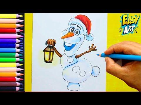 Cómo Dibujar A Olaf Para Navidad Fácil Paso a Paso