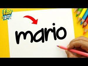 Cómo Dibuja A Partir Del Nombre Mario Fácil Paso a Paso