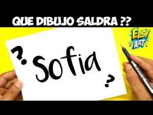 Cómo Dibujar A Partir Del Nombre Sofía Fácil Paso a Paso