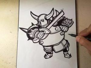 Cómo Dibujar A Pekka De Clash Royale Paso a Paso Fácil