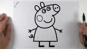 Dibuja A Peppa Pig Paso a Paso Fácil