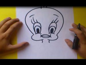 Cómo Dibuja A Piolin De Los Looney Tunes Fácil Paso a Paso