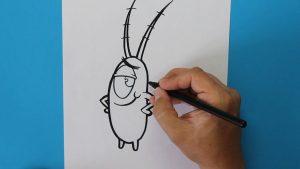 Dibujar A Plankton De Bob Esponja Fácil Paso a Paso