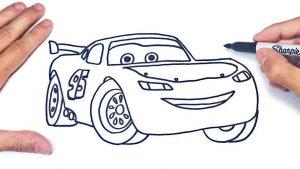 Dibujar A Rayo Mcqueen De Cars Paso a Paso Fácil
