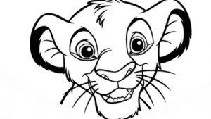 Dibujar A Simba De Disney El Rey León Fácil Paso a Paso