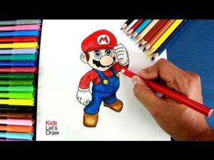 Cómo Dibuja A Super Mario Bros Paso a Paso Fácil