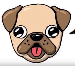 Cómo Dibujar A Un Perro Pug Paso a Paso Fácil