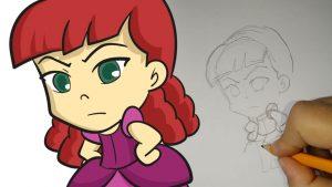 Dibujar Anastasia Fácil Paso a Paso