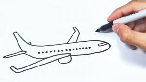 Cómo Dibuja Aviones Fácil Paso a Paso
