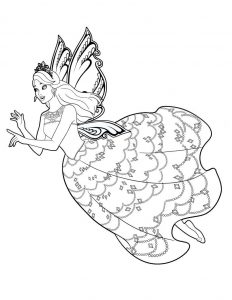 Dibujar Barbie Mariposa Fácil Paso a Paso