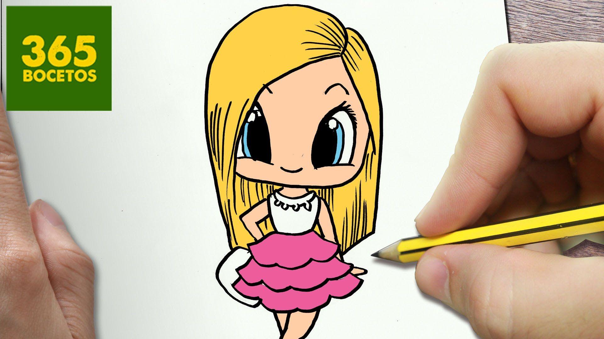 Cómo Dibuja Barbie Fácil Paso a Paso