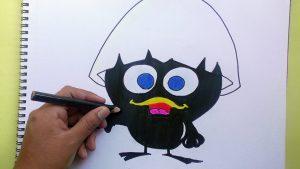 Cómo Dibuja Calimero Fácil Paso a Paso