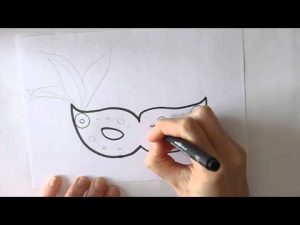 Dibujar Carnaval Paso a Paso Fácil