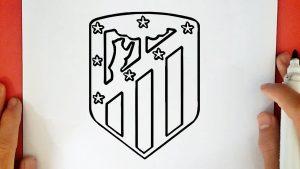 Dibujar El Escudo Del Atletico De Madrid Paso a Paso Fácil