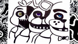 Dibujar Five Nights At Freddys Fácil Paso a Paso