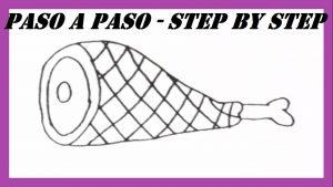Cómo Dibujar Jamon Fácil Paso a Paso