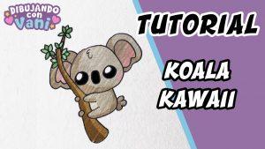 Cómo Dibujar Koala Kawaii Paso a Paso Fácil