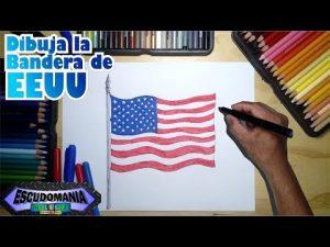 Dibujar La Bandera De Estados Unidos Fácil Paso a Paso