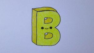 Cómo Dibuja La Letra B Fácil Paso a Paso