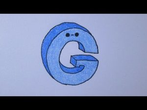 Dibuja Letra G Fácil Paso a Paso