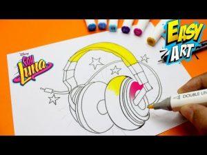 Cómo Dibujar Los Auriculares De Soy Luna Fácil Paso a Paso