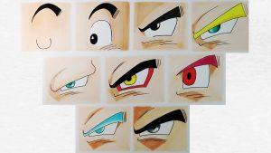 Cómo Dibujar Los Ojos De Gokú En Todas Sus Fases Paso a Paso Fácil