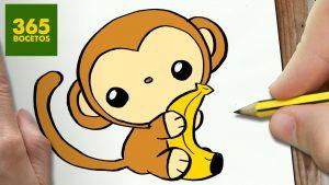 Cómo Dibujar Mono Kawaii Paso a Paso Fácil