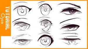 Cómo Dibuja Ojos Animé Paso a Paso Fácil