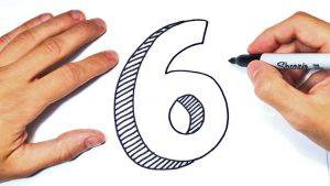 Dibujar Un 6 Fácil Paso a Paso