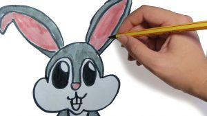 Dibujar Un Conejito Tierno A Lápiz Fácil Paso a Paso