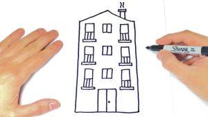 Cómo Dibujar Un Edificio Fácil Paso a Paso