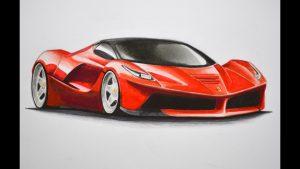 Cómo Dibujar Un Ferrari Paso a Paso Fácil