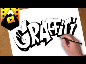 Dibuja Un Grafiti Paso a Paso Fácil