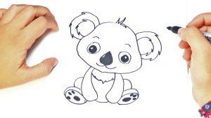 Cómo Dibuja Un Koala Paso a Paso Fácil