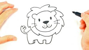 Cómo Dibujar Un León Para Niños Fácil Paso a Paso